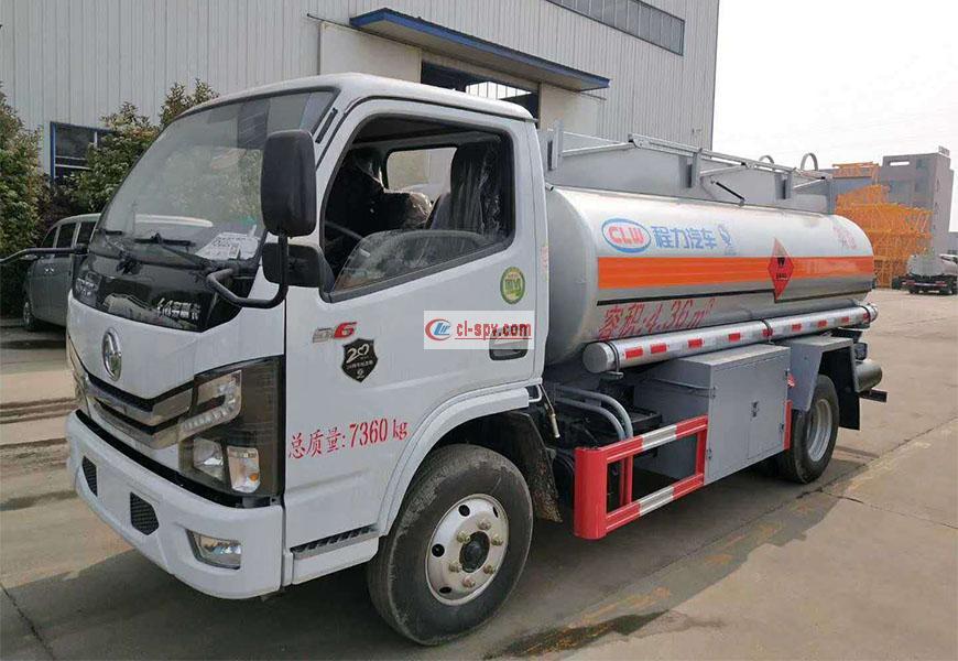 Dongfeng Duolika 5 ٹن فیول ٹینک ٹرک قومی VI