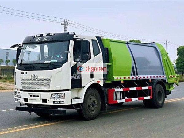 解放J6压缩垃圾车 欧六排放
