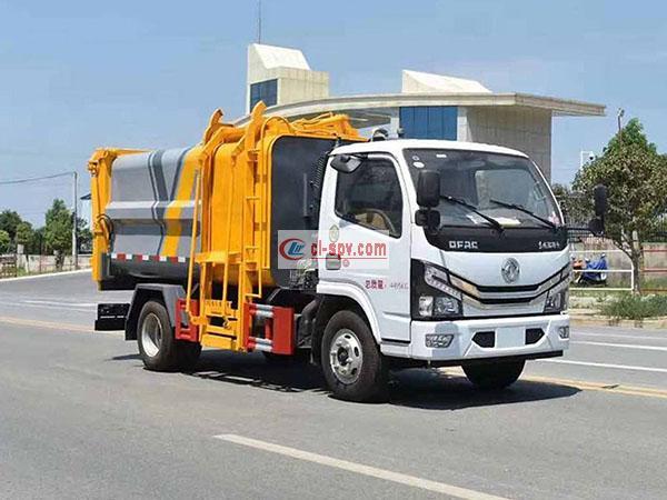 东风多利卡挂桶式垃圾车 欧六排放