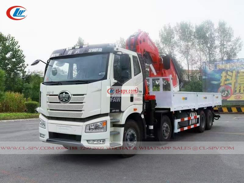 FAW J6 4 ejes montados en camión 30 toneladas de grúa