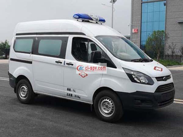 福特V362短轴中顶欧六排放救护车