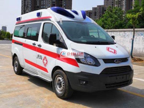福特V362中轴中顶欧六排放救护车