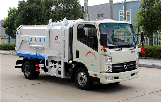 Kaima side mounted compression type garbage truck