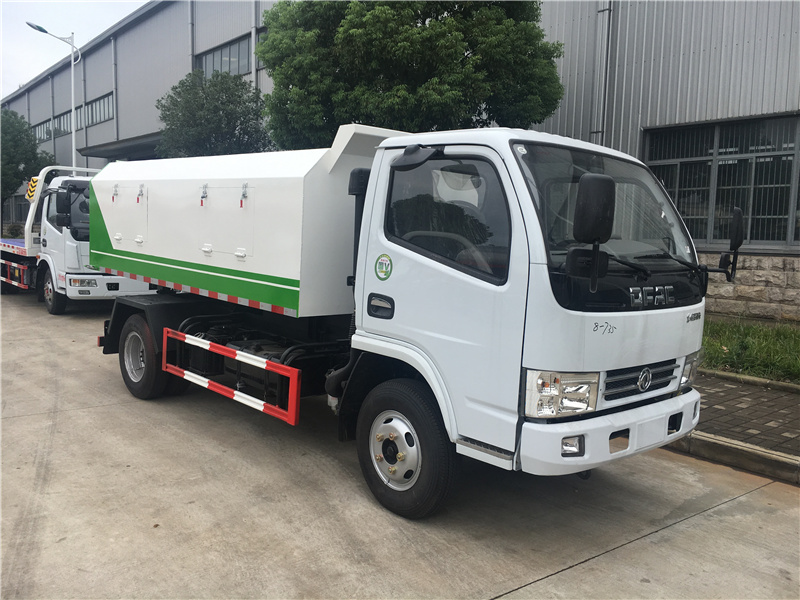 DLK 5 cbm sealed garbage truck