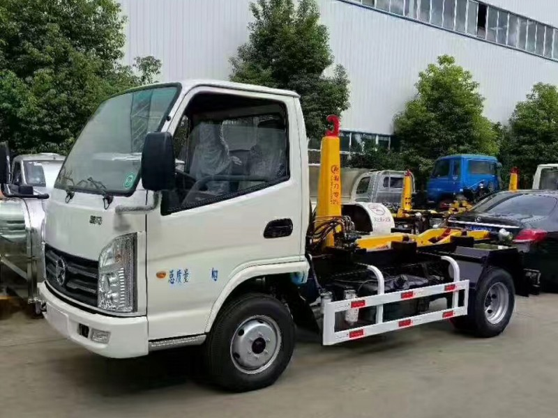 Kaima 4 cbm hook arm garbage truck