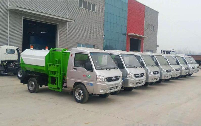 凯马3方挂桶式garbage truck  batch delivery
