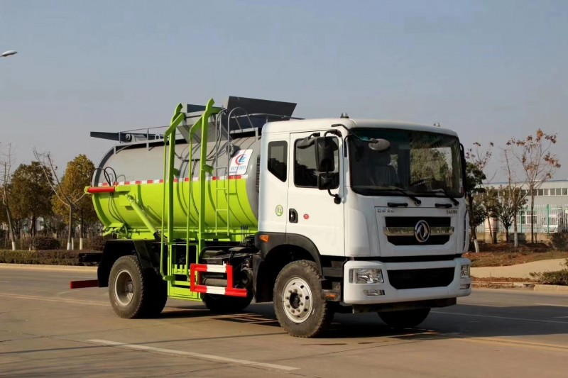 Dongfeng food waste 8-9 cbm truck