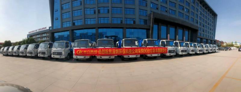 凯马3方挂桶式garbage truck 批量发往深圳