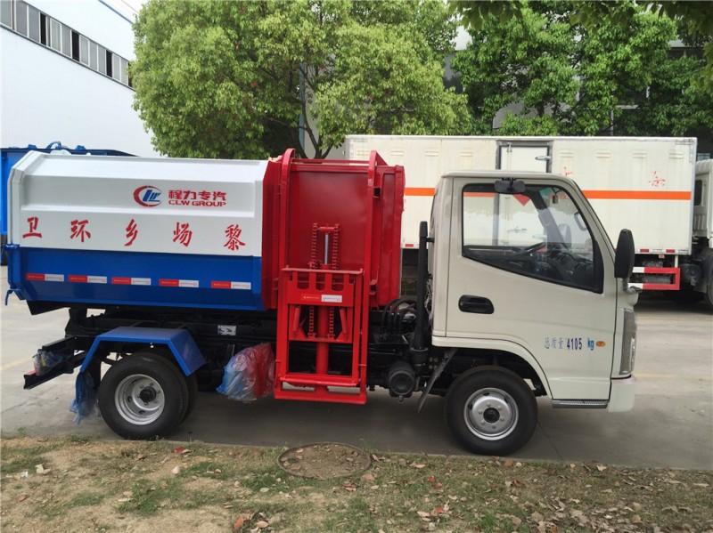 凯马3方挂桶式garbage truck 正侧面图