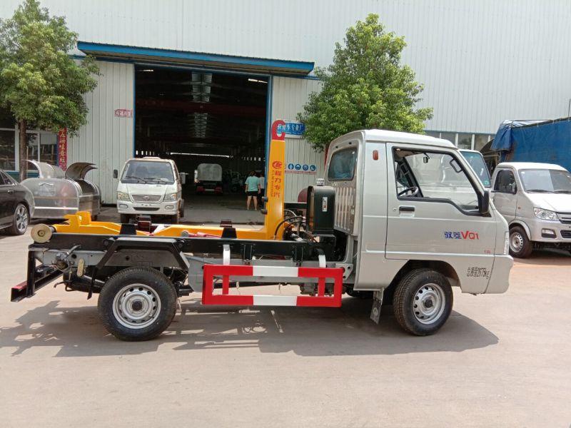 福田驭菱3方钩臂式garbage truck 正右面图