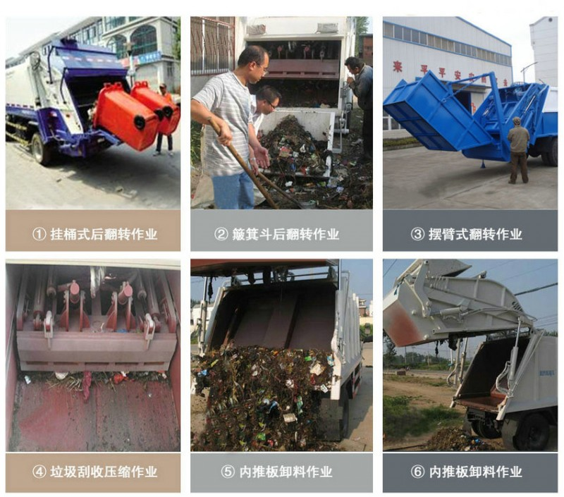 Dongfeng Compressed Garbage Truck  real working pictures