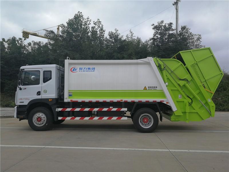 东风D9 12方 compressed garbage truck 正侧面图