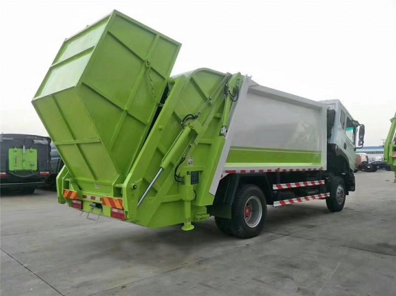 东风D9 12方 compressed garbage truck 后右面图