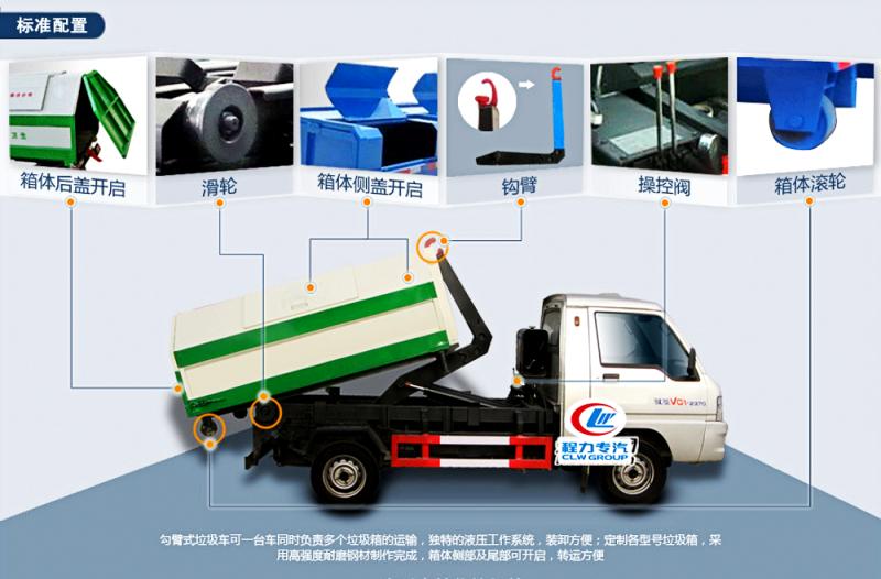 钩臂式garbage truck 整车描述