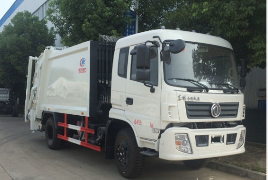 Dongfeng special chassis 10 disposed compression garbage truck