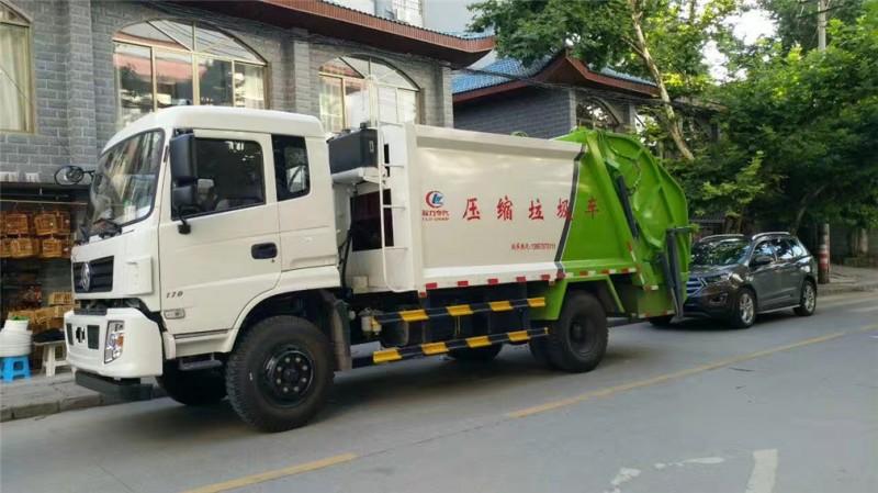 东风专底10方 compressed garbage truck 前左侧图