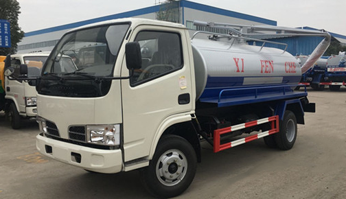 Dongfeng DLK 5 cbm camion fécales d'aspiration