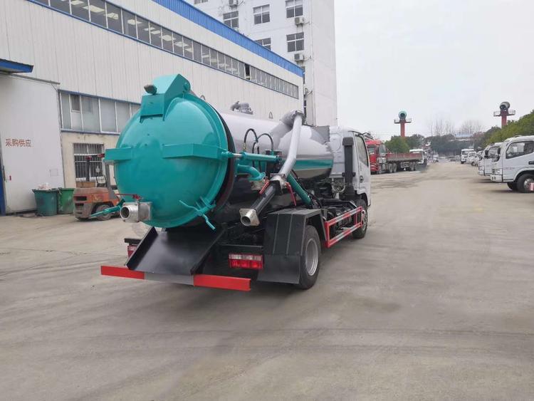 DLK شاحنة مياه الصرف الصحي الشرقي شفط الجانب 4 5