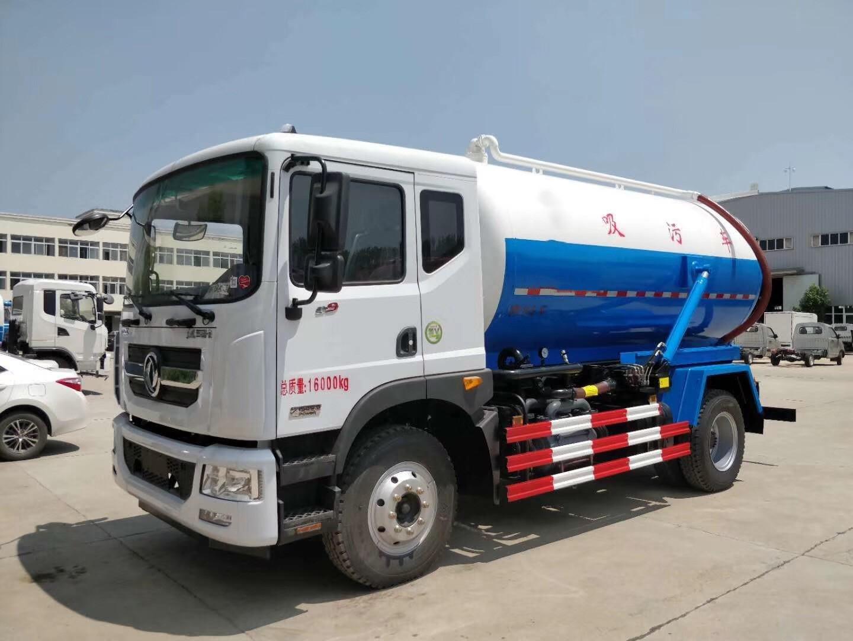 Dongfeng D9 10000 litres d'aspiration des eaux usées camion