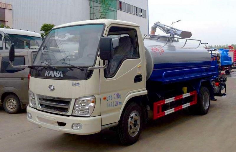 kaima 2 cbm camion fécales d'aspiration